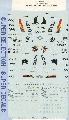 F-18 HORNET DECAL SET -CALCOMANIAS-