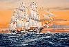 U.S.S. CONSTITUTION FIRST USA WAR SAIL SHIP